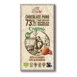 Xocolata negra 73% cacao amb ametlles 150g eco